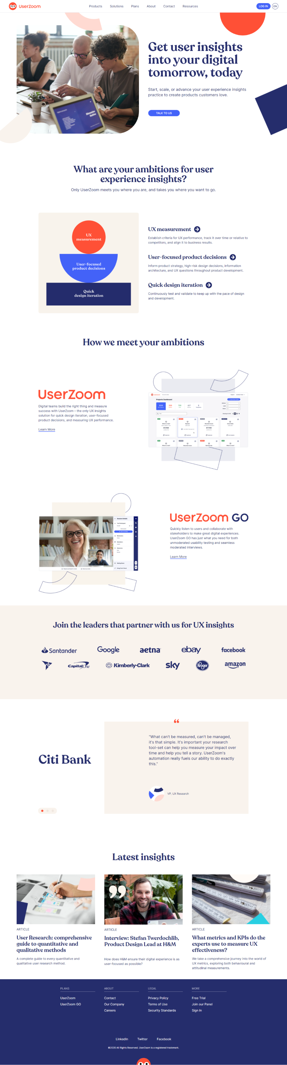 UserZoom Website Preview